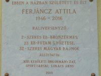 Ferjáncz Attila emléktábla