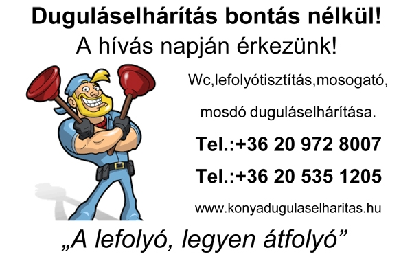 Vállalkozó ajánló – Duguláselhárítás Budapest