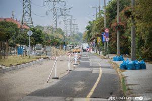 A tervezett ütemben halad az angyalföldi Göncöl utca korszerűsítése